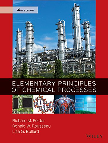 Pdf Engineering Elementary Principles of Chemical Processes