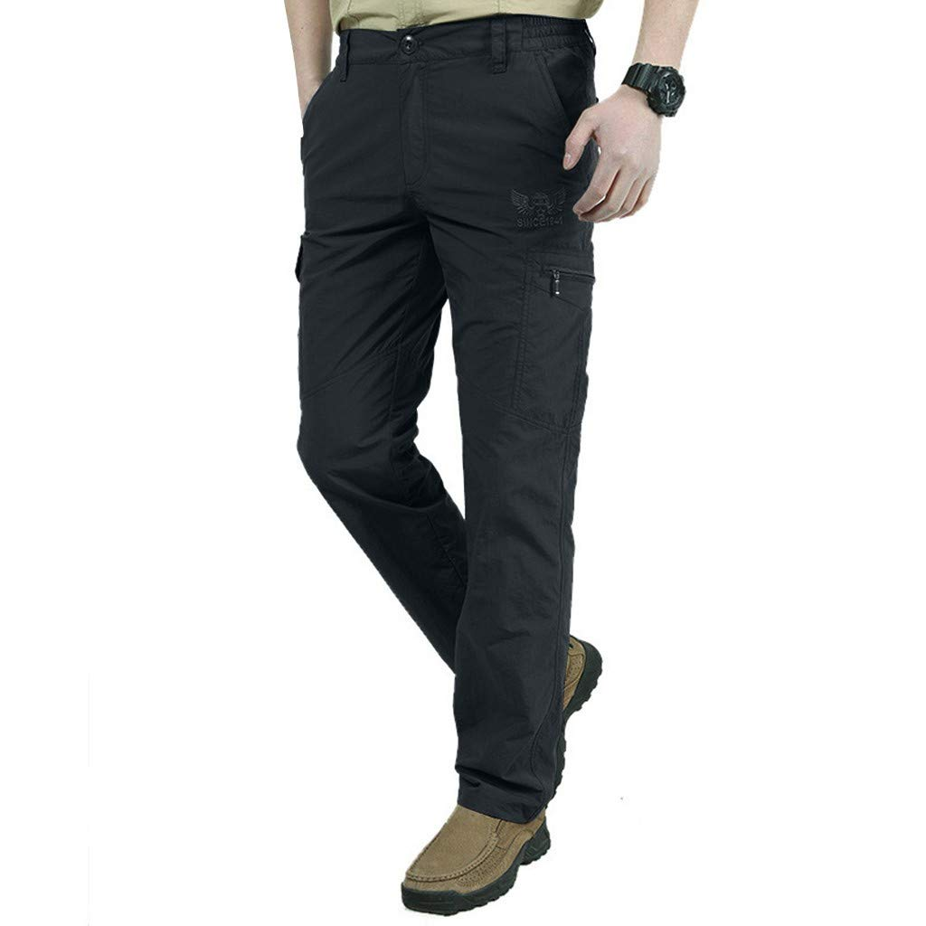 Men's Outdoor Quick Drying and Ventilating Sports Cargo Pants Thickened Warm Trousers