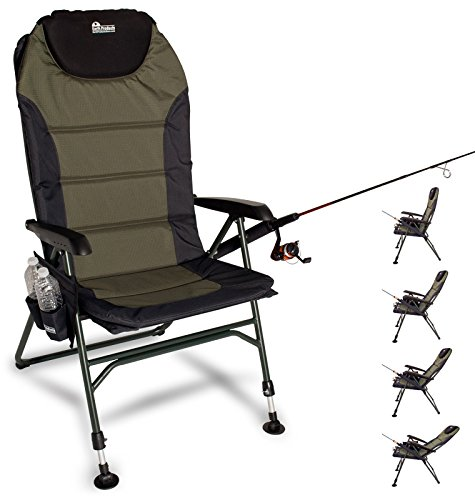 Earth Products Ultimate Outdoor Adjustable Fishing Chair with Adjustable Legs - Fishing Chair