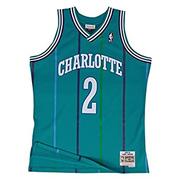 Mitchell & Ness Larry Johnson # 2 Charlotte Hornets 1992 – 93 Swingman NBA Camiseta Turquesa