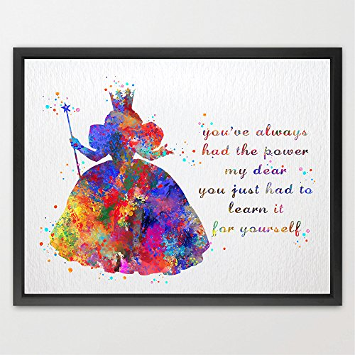 Dignovel-Studios-Glinda-the-Good-Witch-Wizard-of-Oz-Inspired-Watercolor-print-illustrations-art-home-decor-wall-art-N426