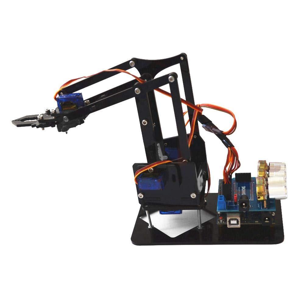 Robot Arm Kit SNAM1900 DIY Mechanical Claw Robot with sg90 Servo and Control Software for Arduino Robotics, US 100-240V