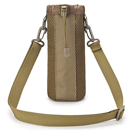 BondFree Water Bottle Carrier Water Bottle Pouch Holder Bag Case Kettle Bag Holder for Outdoor Sports Hiking Camping Travel (Style-2, Brown)