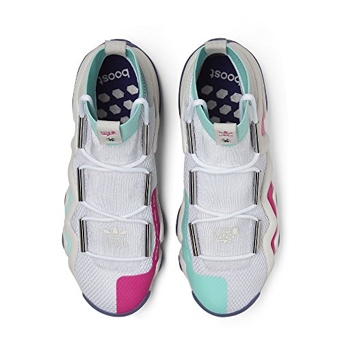 Adidas Consortium X Nice Kicks Mannen Gek 8 A // D (wit / Gebroken Wit / Energie Aqua) Wit / Mint-paars