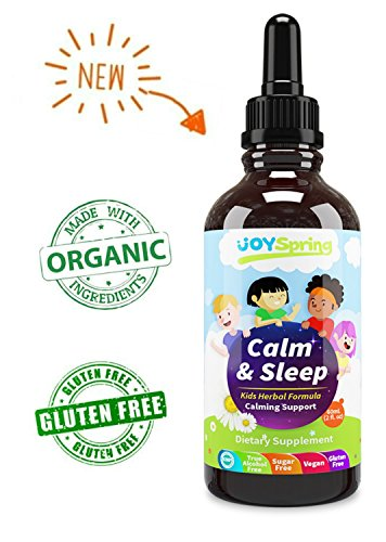 Best Organic Kids Calm Supplements - Calm, Anxiety & Natural Sleep Aid for Kids - Gluten Free Chamomile Blend to Calm Kids - Promotes Better Sleep, Focus & Comfort, Enjoy a No Fuss Bedtime