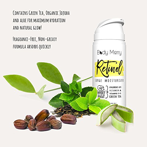 Best anti aging moisturizer. Body Merry Retinol Moisturizer - Anti Aging/Wrinkle & Acne Face Moisturizer Cream w Natural Hyaluronic Acid + Vitamins. Use day or night for deep hydration for men & women!. #antiaging #antiagingskincare