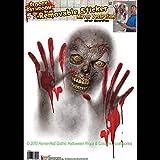 Forum Novelties Bloody Horror Bathroom-Zombie Mirror Cling-Window Sticker Halloween Decoration