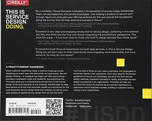 This Is Service Design Doing Applying Service Design Thinking In The Real World Stinkdorn Marc Amazon Com Au Books
