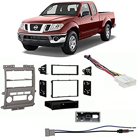 Gray Metra 99-7428G Double DIN//ISO DIN Installation Dash Kit for 2009 Nissan Frontier LE//SE