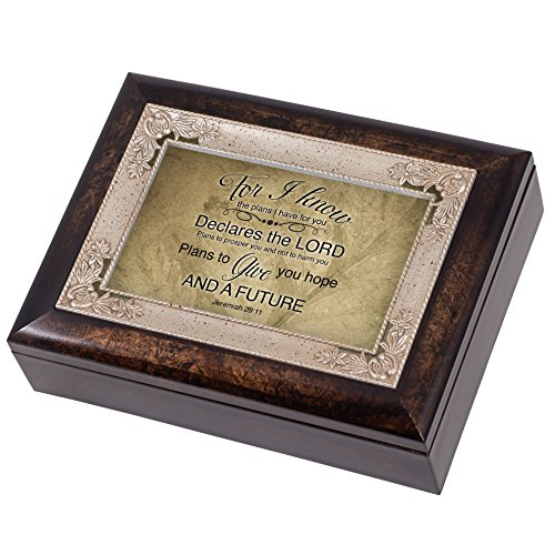 Hope and a Future Jeremiah 29:11 Italian Design Jewelry Music Box Plays Amazing Grace