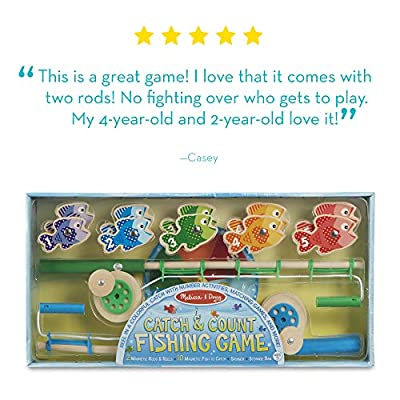 Melissa & Doug Catch & Count Magnetic Fishing Game: Melissa & Doug: Toys & Games