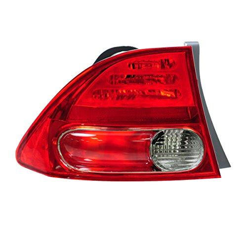 Taillight Taillamp Rear Brake Light Driver Side Left LH for 06-08 Civic Sedan ()