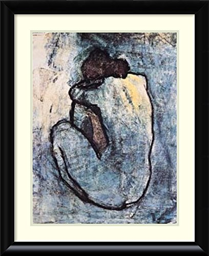 Framed Art Print 'The Blue Nude (Seated Nude), 1902' by Pablo Picasso