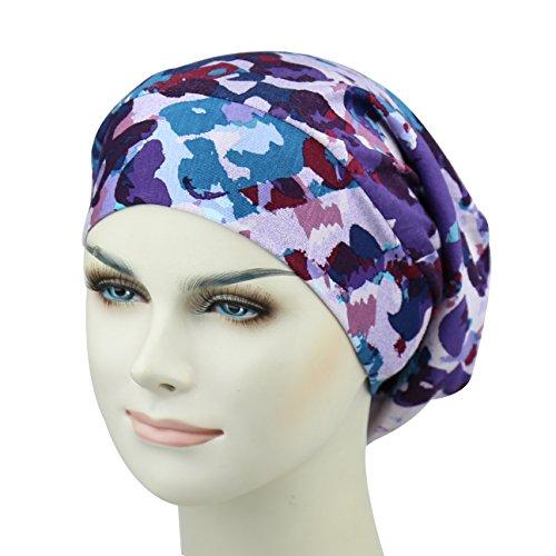 Satin Bonnet Cap Night Sleep Hats Wide Band Sleep Beanie Snug Head Cover For Natural Hair