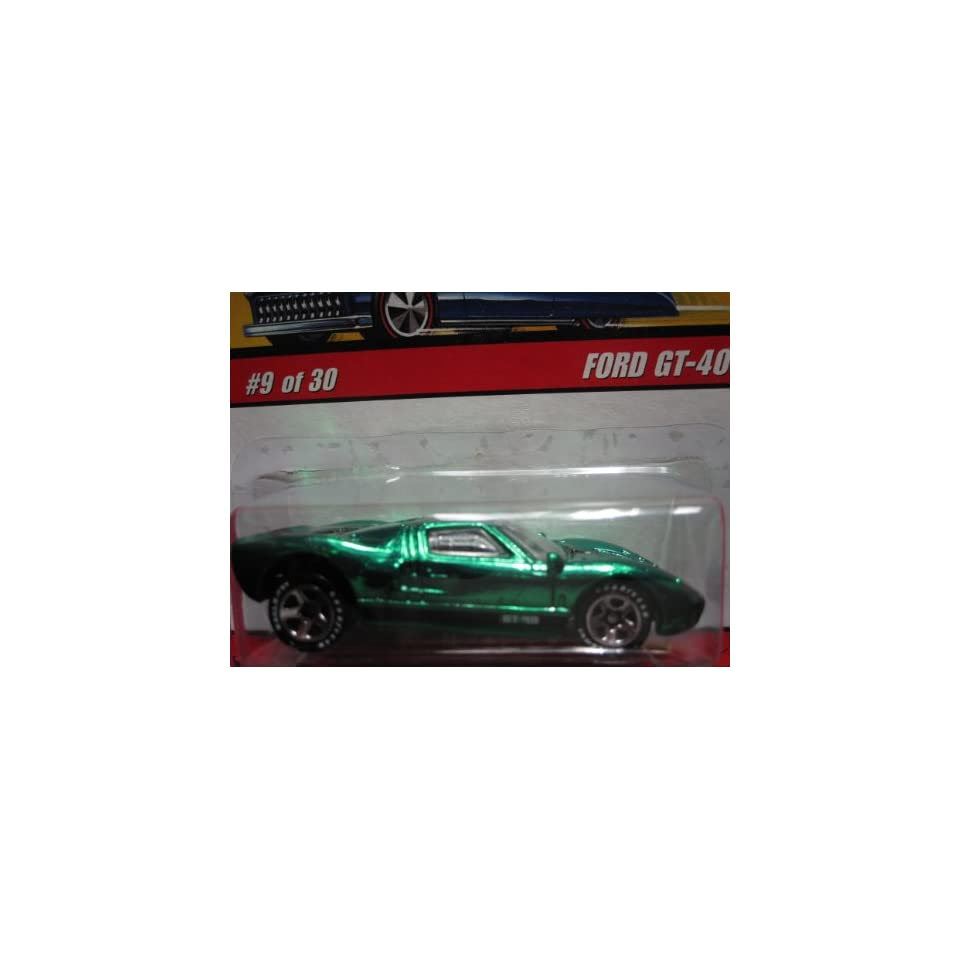 Ford GT 40 (Spectraflame Green) 2005 Hot Wheels Classics Series 2