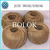 FINCOS 40PCS/Lot Natural Jute Twine (Dia.:2mm,110yards/ball, 2 ply Twisted) by