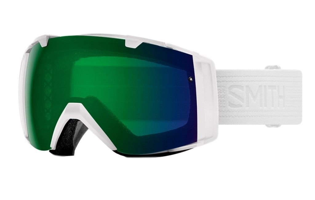 Smith Optics Adult I/O Snowmobile Goggles Whiteout / ChromaPop Everyday Green Mirror