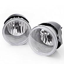 Ships From USA 2 Pcs Clear Lens Front Bumper Fog Lights Lamps For 2005-2006 Chysler 300 3.5L 2005-2009 Dodge Dakota