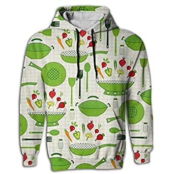 Men's Hoodie Slim Sweatshirt Pullover Kitchen Ware Cooking Yoga