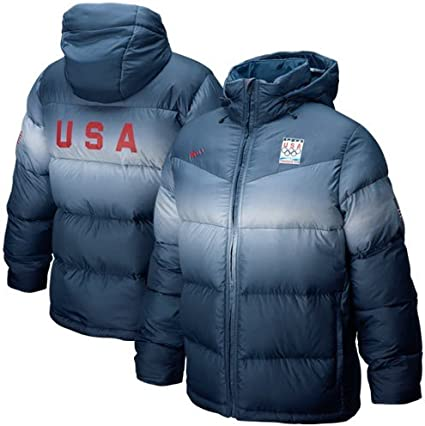 Umeki Posdata débiles  Amazon.com: NIKE 2010 Winter Olympics Team USA Navy Blue Medal Stand Puffer  Down-Filled Jacket: Clothing