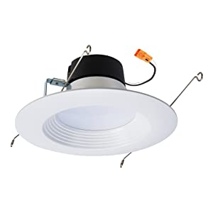 """Halo LT560WH6927R LT 5 in. and 6 Integrated Ceiling Light Retrofit 2700K Warm White 5/6"""" LED Recessed Trim, 5 Inch and 6 Inch"""