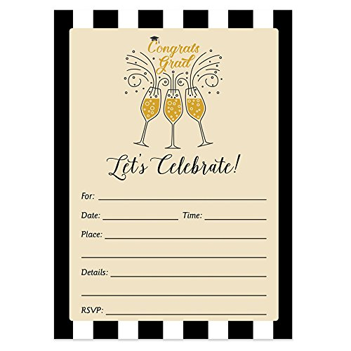 Graduation Party Invitations with Envelopes (Pack of 50) Fill-in Grad Party Invites Excellent Value Invitations VI0022 -