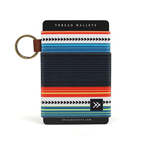 Thread Wallets - Slim Minimalist Wallet - Front Pocket Credit Card Holder for Men (One Size, Midnight)