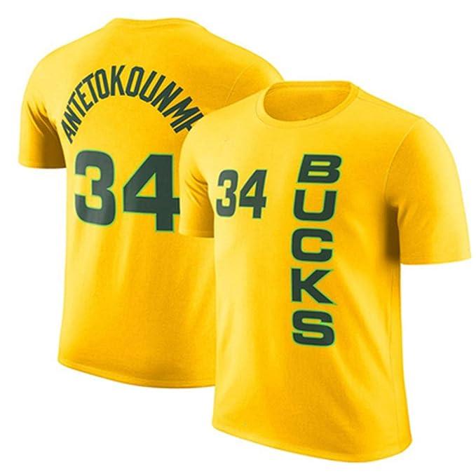 Camiseta NBA Milwaukee Bucks Giannis Antetokounmpo Media Manga De ...
