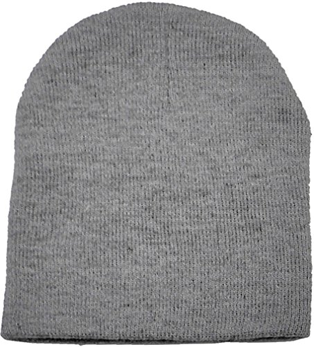 Simplicity Men Women Solid Color Plain Acrylic Knit Ski Beanie Skull Hat, Grey ()