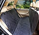 Lepet Dog Car Seat Covers Pet Seat Cover for Cars, Waterproof Scratch Proof and Anti-slip Backing, Padded & Quilted Durable 4 Layers, Machine Washable Car Backseat Cover For Pets