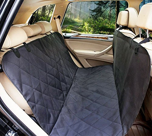 Lepet Dog Car Seat Covers Pet Seat Cover for Cars, Waterproof Scratch Proof and Anti-slip Backing, Padded & Quilted Durable 4 Layers, Machine Washable Car Backseat Cover For Pets by Lepet (Image #8)