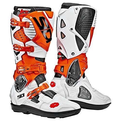 Sidi Crossfire Boots - Sidi Crossfire 3 Motocross Boots White Orange Black (EU 44 / US 10)