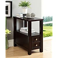 247SHOPATHOME Idf-AC114 End-Tables, Espresso