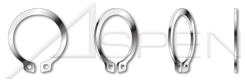 AISI 301 Stainless Steel External Retaining Rings 10 pcs DIN 471 Metric M105