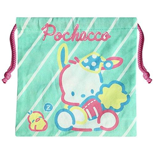 Sanrio Pochacco Drawstring Bag Stripe SRKN1283