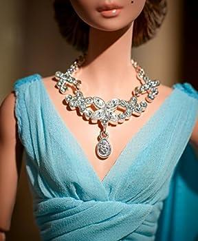 Barbie Fashion Model Collection Blue Chiffon Ball Gown Barbie Doll 10