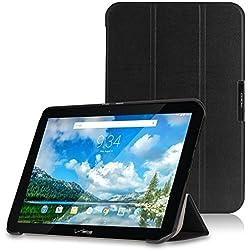 MoKo Verizon Ellipsis 10 Case - Ultra Slim Lightweight Smart-shell Stand Cover Case for Verizon Ellipsis 10 2015 Tablet (NOT FIT 2017 Verizon Ellipsis 10), BLACK