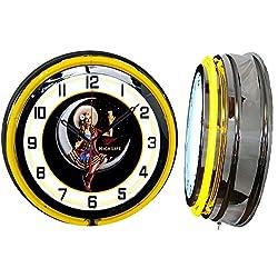 Checkingtime LLC 19 Miller High Life Beer Girl Clock, Yellow Outside Tube, Two Neon Tubes