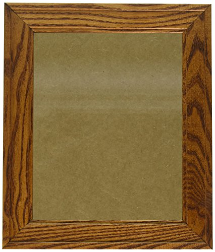 ArtToFrames 8x10 inch Honey Stain on Oak Wood Picture Frame, WOM0066-80206-YHNY-8x10