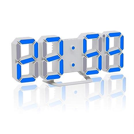 Reloj de alarma digital - Reloj de escritorio LED3D ...