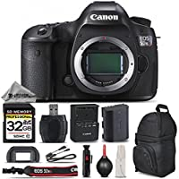 Canon EOS 5DS R DSLR Camera Body 50.6MP Full-Frame, Full HD 1080p + 32GB Memory Card + High Speed Card Reader + Backpack for DSLR System. All Original Accessories Included - International Version