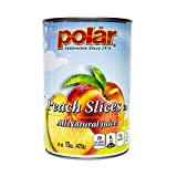 MW Polar Polar Peach Slices in Natural Juices, 15 Ounce (Pack of 12)