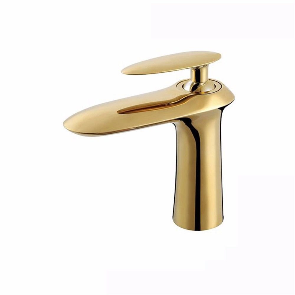 The gold Hlluya Professional Sink Mixer Tap Kitchen Faucet The ORB antique bronze brown gold and cold water bathroom faucet, chrome-plated silver