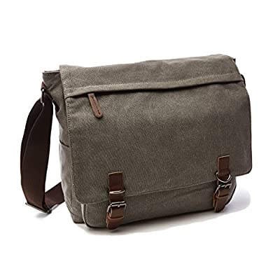 Sechunk Canvas Leather Messenger Bag Shoulder bag Cross body bag Crossbody small new