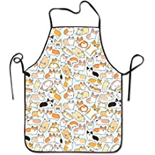 Corgi Dog Overhand Apron Funny Work Aprons Tailgate Grilling Prepare For Family Woman One Size Polyester