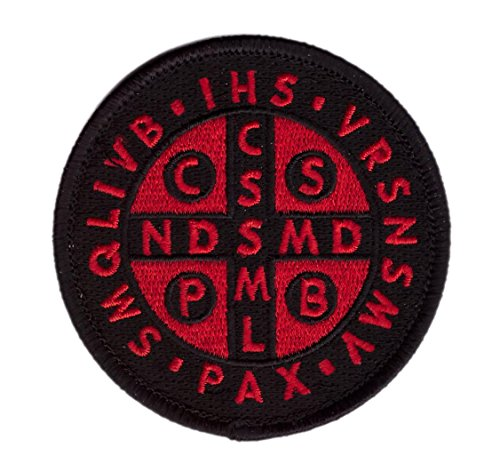 Hook Red Black St. Benedict Cross Medal Tactical