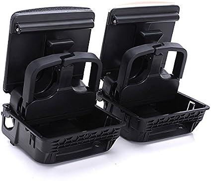 Caja con posavasos para reposabrazos de consola central para VW Jetta Golf: Amazon.es: Coche y moto