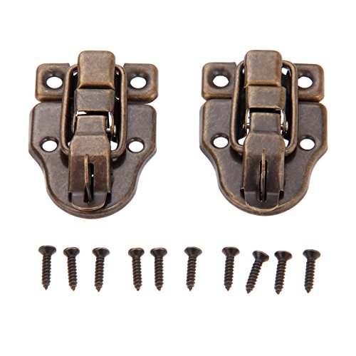 Dophee 10Pcs 2.32''x1.57'' Antique Bronze Retro Style Iron Toggle Fit Case Box Chest Trunk Latch Hasps by dophee (Image #1)