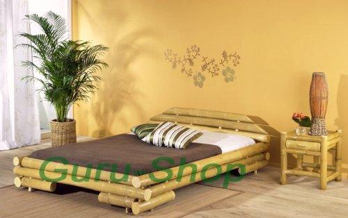 Bambusbett `Mali` in vielen Größen / Möbel und Kolonialstilmöbel/ Variante: Größe: 200*220 cm