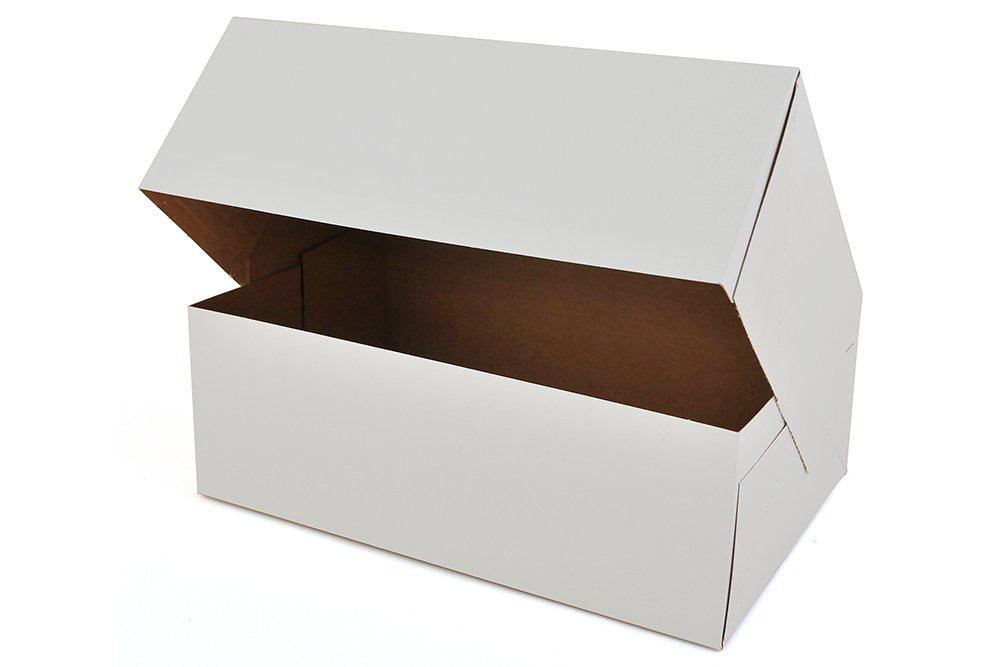 10'' Length x 6.5'' Width x 3.5'' Height White Kraft Paperboard Auto-Popup 1-Piece Donut Bakery Box by MT Products (Pack of 15)